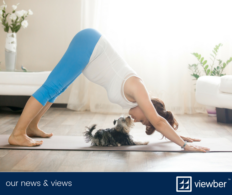 A job that fits in with the gym, the dog and yoga