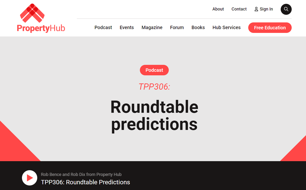 Property Hub Podcast - 2019 roundtable predictions